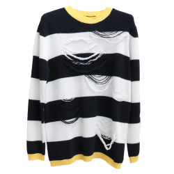 TRICOLOR STRIPPED SWEATER