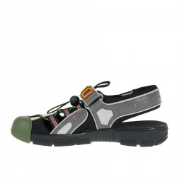 GREEN GREY AND BLACK SANDAL