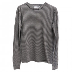 GRAY STRIPPED SWEATER