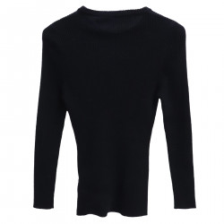 DARK BLUE SWEATER WITH APPLICATION