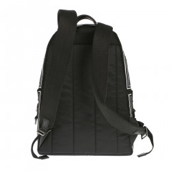 BLACK BACKPACK AND WITH WHITE DETAILS