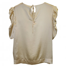 TOP IVORY WITH ENRICHED SLEEVES