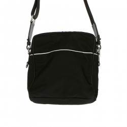 BLACK BAG WITH SHOULDER STRAP