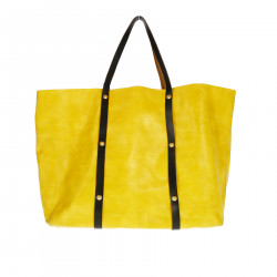 YELLOW SHOULDER BAG WITH STUDS