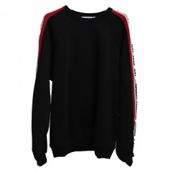 BLACK SWEATER WITH SIDE WRITING