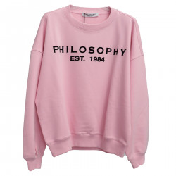 PINK SWEATER WITH WRITTING