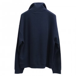 BLUE SWEATER WITH WRITTING