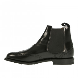 BLACK LEATHER CHELSEA BOOT