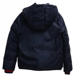 BLUE DOWN JACKET HOODED