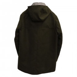 DOUBLE FACE MILITARY GREEN LONG JACKET