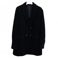 BLUE DOUBLE BREASTED COAT