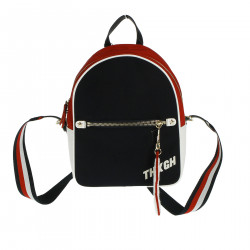 BLUE WHITE AND RED BACKPACK
