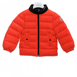 RED AND BLACK PADDED JACKET