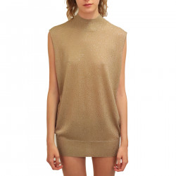 BEIGE TOP WITH RHINESTONES