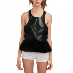 BLACK TOP WITH ECO FUR