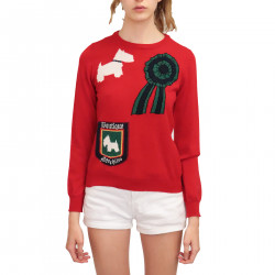 RED PRINTED PULLOVER