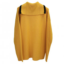 YELLOW RIBBED SWEATER