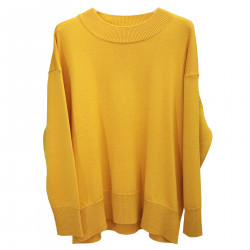 YELLOW RIBBED PULLOVER