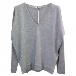 GREY PULLOVER WITH LUREX