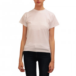 WHITE T SHIRT WITH PRINTED BACK