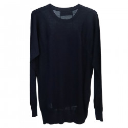 BLUE WOOL PULLOVER