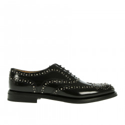 BLACK LACE-UP WITH STUDS