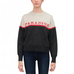 PARADISE GREY AND BEIGE SWEATER