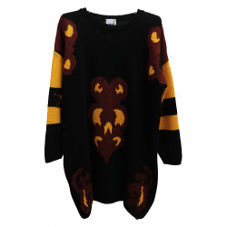 FANTASY BLACK LONG SWEATER