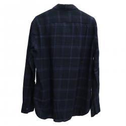 DARK BLUE CHECKED SHIRT