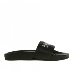 BLACK LEATHER SLIPPERS