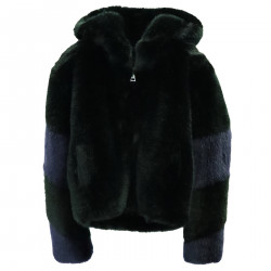 ECO FUR GREEN AND BLUE