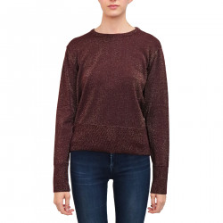 BORDEAUX PULLOVER WITH GOLD LUREX
