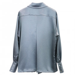 METALLIZED LIGHT BLUE SHIRT