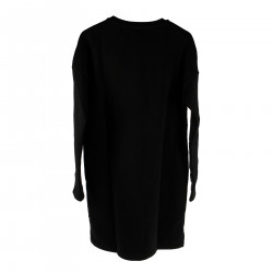 BLACK DRESS WITH TIGER