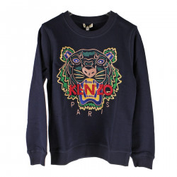 NAVY BLUE SWEATSHIRT WITH TIGER