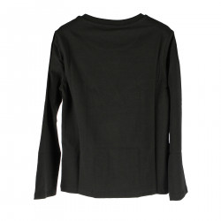 BLACK SWEATER WITH PRINT AND WRITTEN