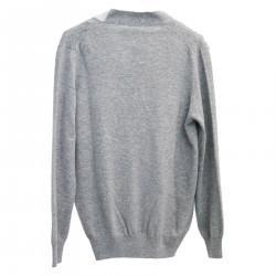 GREY WOOL AND CASHMERE CARDIGAN