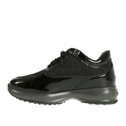 BLACK SNEAKERS WITH MICROPAILLETTES