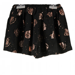 BLACK SHORT WITH PRINT