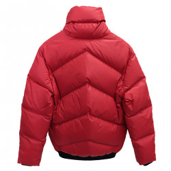 RED DOWN JACKET WITH FANTASY