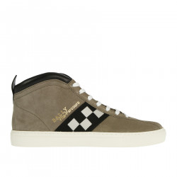 SNEAKERS BEIGE IN CAMOSCIO