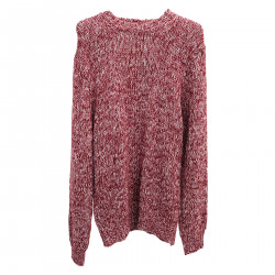 RED ROUNDNECK SWEATER