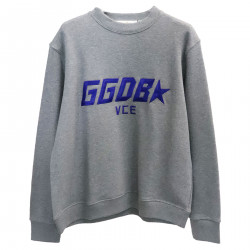 GREY SWEATER WITH FRONTAL PRINT