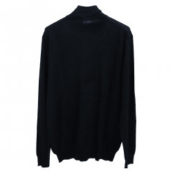 BLUE PULLOVER WITH ZIP