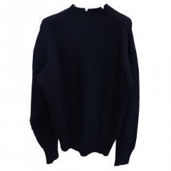 HIGH NECK BLUE PULLOVER