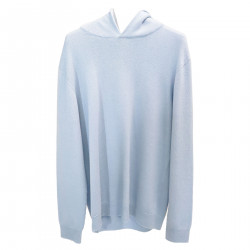 LIGHT BLUE PULLOVER WITH HOOD