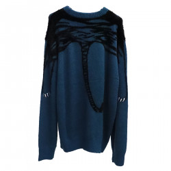 BLUE SWEATER WITH TIGER FANTASY