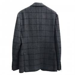 BLUE AND SQUARE GRAY JACKET
