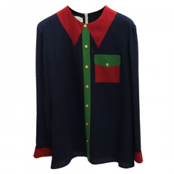 RED AND GREEN BLUE SHIRT