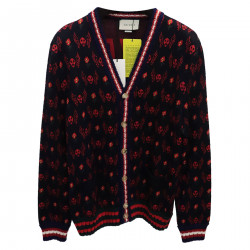 RED AND GREEN BLUE CARDIGAN